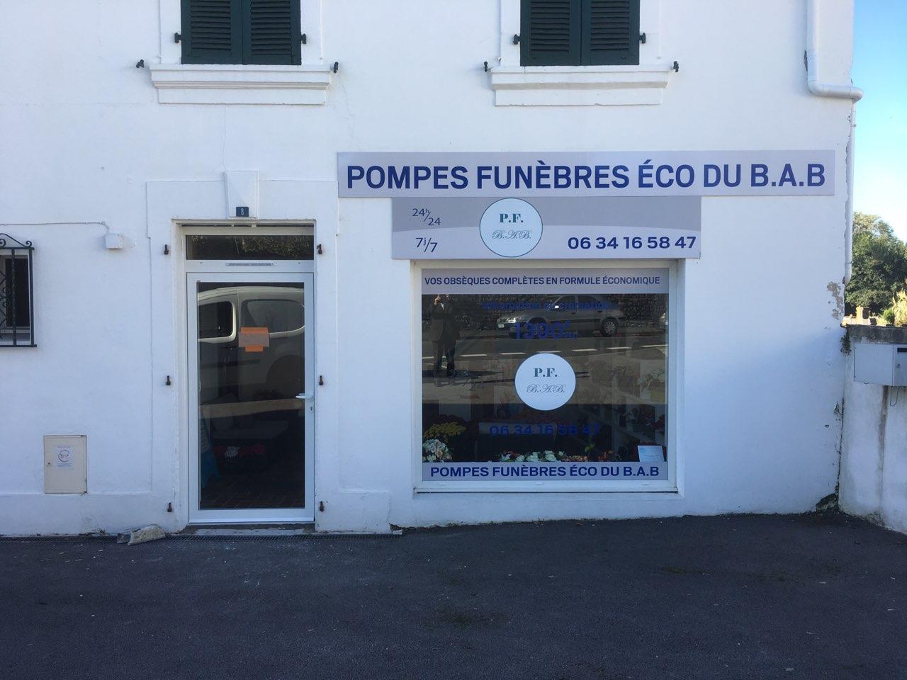 facade des Pompes Funèbres Eco du BAB